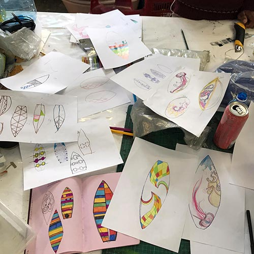 Wavescape Art Board Project 2019 - Heath and members of Our Workshop