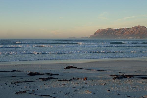Muizenberg beach on lockdown